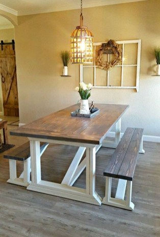 Easy Rustic Farmhouse Dining Room Makeover Ideas 58