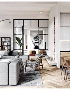 Elegant Scandinavian Living Room Design Ideas 07