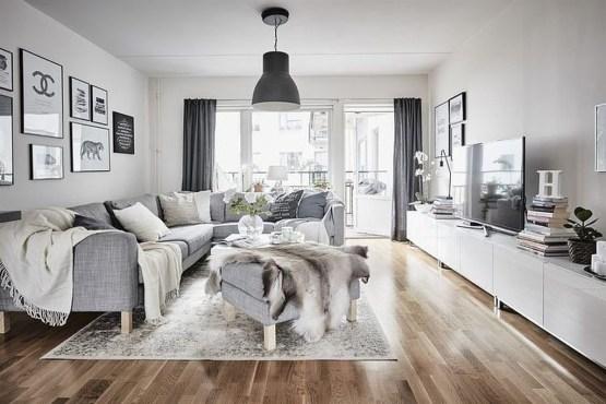 Elegant Scandinavian Living Room Design Ideas 16