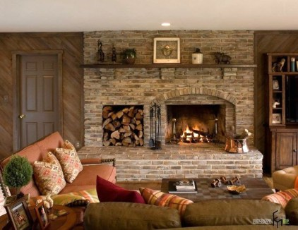 Gorgeous Fireplace Design Ideas For This Winter 56