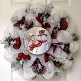 Interesting Snowman Winter Decoration Ideas 30