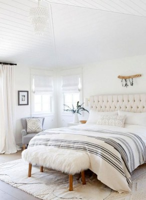 Minimalist But Beautiful White Bedroom Design Ideas 25