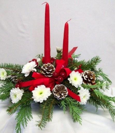 Beautiful Flower Christmas Decoration Ideas 10