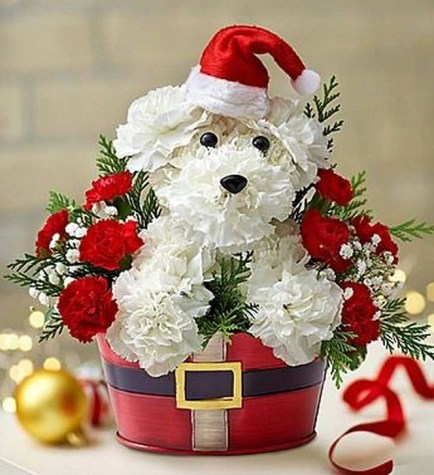 Beautiful Flower Christmas Decoration Ideas 11
