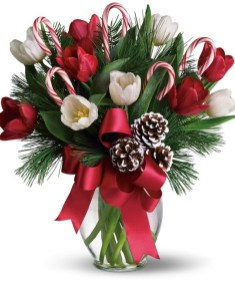 Beautiful Flower Christmas Decoration Ideas 15