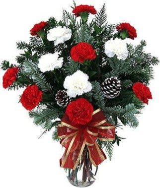 Beautiful Flower Christmas Decoration Ideas 30