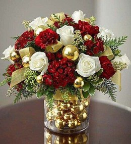 Beautiful Flower Christmas Decoration Ideas 40