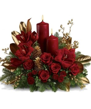 Beautiful Flower Christmas Decoration Ideas 50