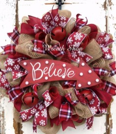 Brilliant DIY Christmas Wearth Decoration Ideas 11