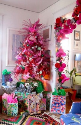 Cute Pink Christmas Tree Decoration Ideas You Will Totally Love 42