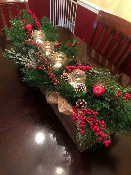 55 Elegant Christmas Table Centerpieces Decoration Ideas