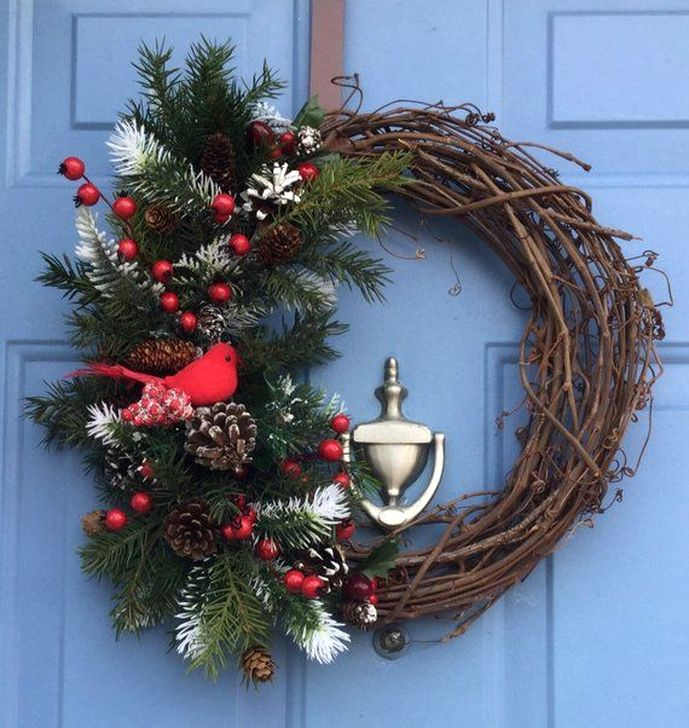 Excellent Christmas Wearth Decoration For Your Door 46