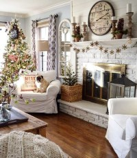 Inspiring Christmas Decoration Ideas For Your Living Room 37