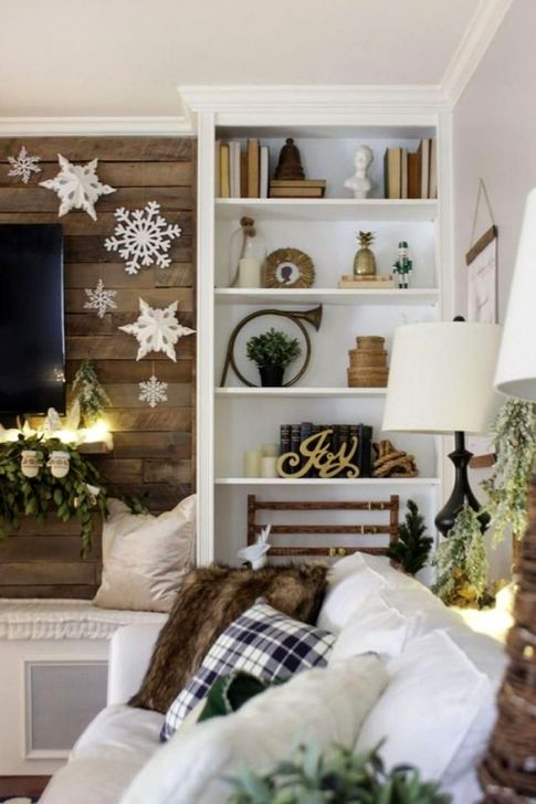 Popular Winter Living Room Design For Inspiration 15