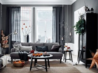 Popular Winter Living Room Design For Inspiration 45