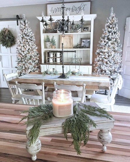 Stunning Shabby Chic Christmas Decoration Ideas 46