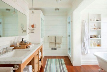 Adorable Beach Bathroom Design Ideas 31