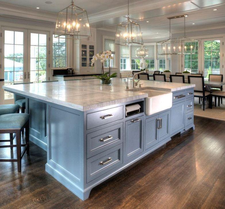 52 Cool Kitchen Island Design Ideas   HOMYSTYLE