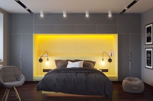 Delightful Yellow Bedroom Decoration And Design Ideas 22