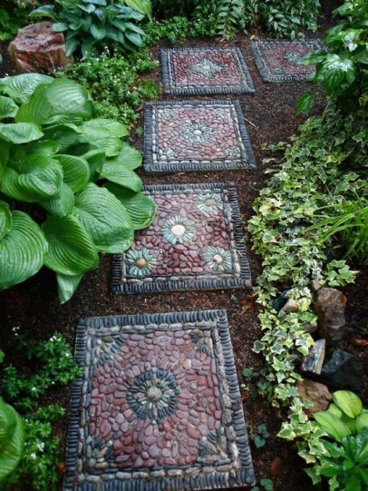Innovative Stepping Stone Pathway Decor For Your Garden 31
