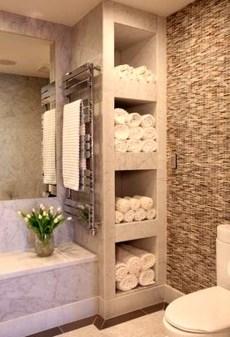 Simple But Modern Bathroom Storage Design Ideas 04