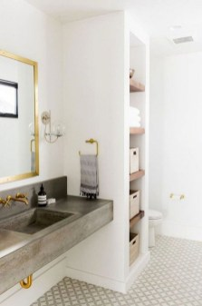 Simple But Modern Bathroom Storage Design Ideas 05