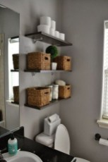 Simple But Modern Bathroom Storage Design Ideas 40