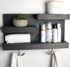 Simple But Modern Bathroom Storage Design Ideas 43