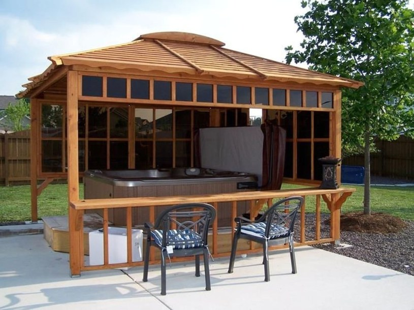 Cozy Gazebo Design Ideas For Your Backyard 01