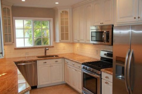 Creative U Shaped Kitchen Remodel Ideas 36