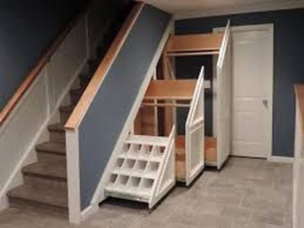 Genius Storage Ideas For Under Stairs 37