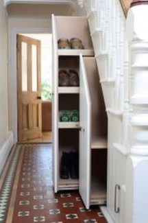 Genius Storage Ideas For Under Stairs 46