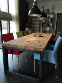 Modern And Unique Industrial Table Design Ideas 13