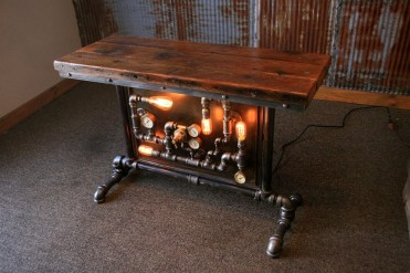 Modern And Unique Industrial Table Design Ideas 41