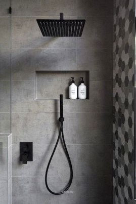 The Best Ideas Black Shower Tiles Design 26