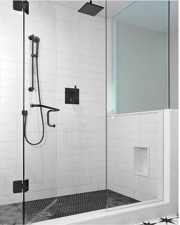 The Best Ideas Black Shower Tiles Design 40