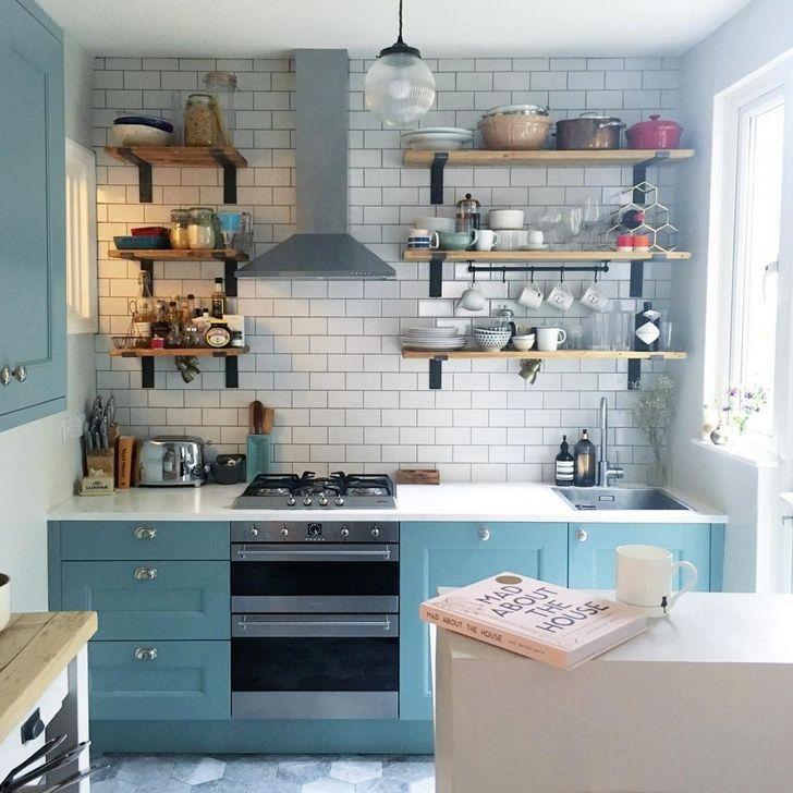 Unique And Colorful Kitchen Design Ideas 32