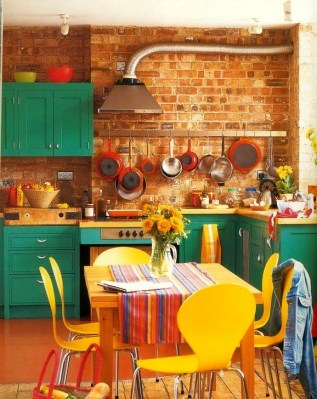 Unique And Colorful Kitchen Design Ideas 39