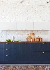 Elegant Navy Kitchen Cabinets For Decorating Your Kitchen 02