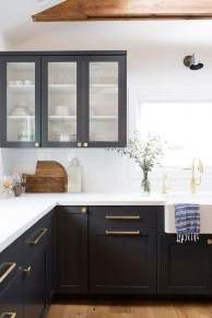 Elegant Navy Kitchen Cabinets For Decorating Your Kitchen 05