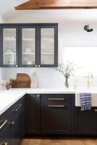 Elegant Navy Kitchen Cabinets For Decorating Your Kitchen 05