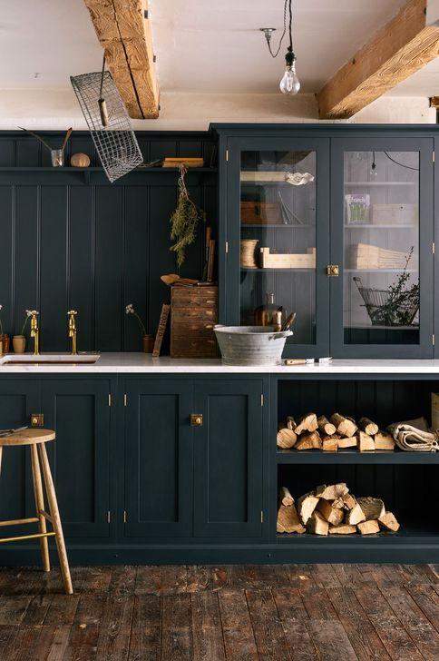 Elegant Navy Kitchen Cabinets For Decorating Your Kitchen 06