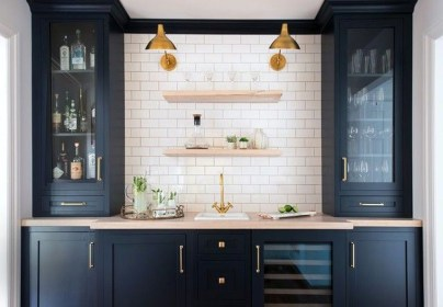 Elegant Navy Kitchen Cabinets For Decorating Your Kitchen 09