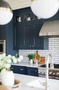 Elegant Navy Kitchen Cabinets For Decorating Your Kitchen 20