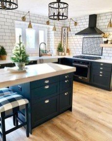 Elegant Navy Kitchen Cabinets For Decorating Your Kitchen 25