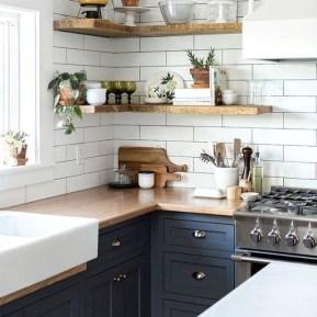 Elegant Navy Kitchen Cabinets For Decorating Your Kitchen 26