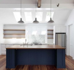 Elegant Navy Kitchen Cabinets For Decorating Your Kitchen 36