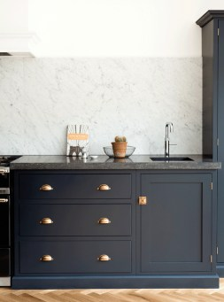 Elegant Navy Kitchen Cabinets For Decorating Your Kitchen 38