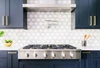Elegant Navy Kitchen Cabinets For Decorating Your Kitchen 41