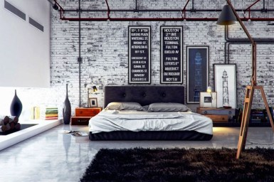 Modern Style For Industrial Bedroom Design Ideas 27
